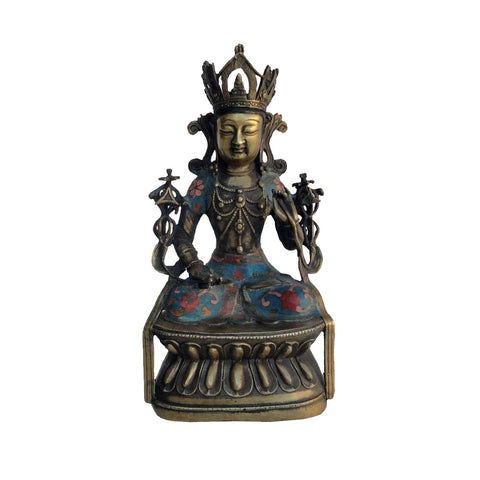Cloisonne Kwan Yin statue - Bodhisattva statue - Goddess of Mercy - Goddess of compassion