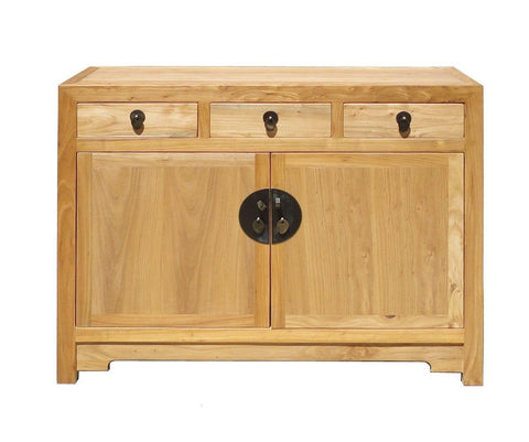 Chinese Fine Finish Raw Wood Console Side Table Cabinet Storage mh232S