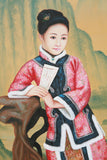 Chinese Ming dynasty lady portrait oil painting