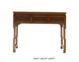 Chinese Light Brown Three Drawers Altar Table Desk