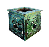 Chinese Turquoise Ru Yi Clay Square Garden Table