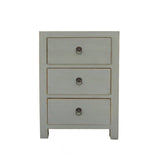 white color multi drawer end table