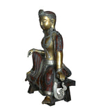 Chinese Handmade Metal Golden Gilt Color Tara Statue cs049S