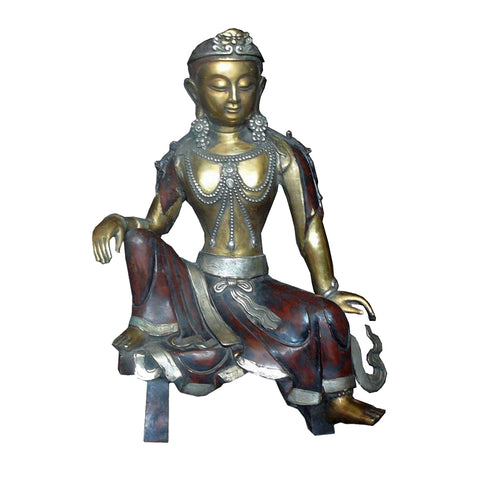 silver Kwan Yin - Bodhisattva -  goddess of mercy - goddess of compassion