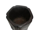 Chinese Simple Rosewood Hauli Pentagon Shape Brush Pot cs066S