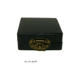 Lot of 2 Chinese Black Leather Square Box Trinket Box, Jewelry Box cs1033-2S