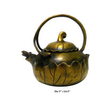 Chinese Metal Bronze Color Lotus Accent Teapot Display cs1035-1S
