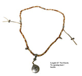 Handmade Cypress Wood Beads Metal Pendant Rosary Praying Necklace cs1036-8S