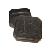 Chinese Handmade Metal Bronze Color Trinket Box cs1037-6S