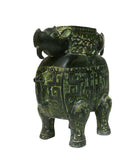Replica Chinese Ancient Green Bronze-ware Ram Ox Ding Incense Burner Display cs1044S