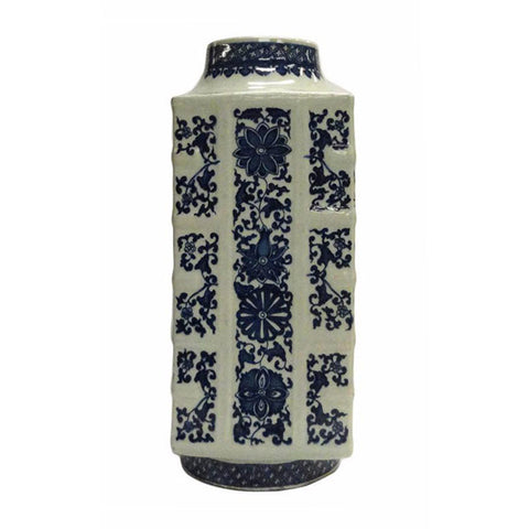 blue and white ceramic porcelain vase