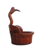duck head bucket - brown bucket - oriental bucket