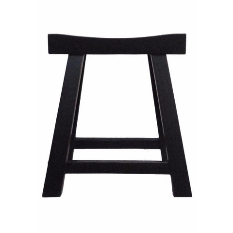 Chinese black wood stool