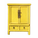 yellow color nightstand | end table