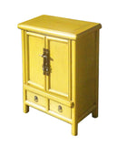 small yellow cabinet