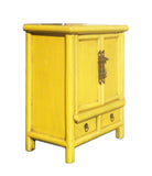 yellow nightstand | end table