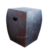 square shape clay stool