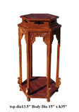 Chinese Huali Rosewood Hexagon Pedestal Plant Stand Table cs1221S