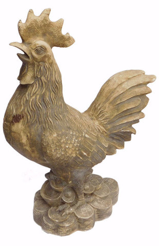 Chinese Handmade Ceramic Rooster Fortune Figure cs1252S