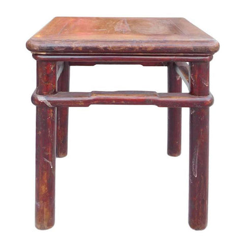 handmade rustic antique stool