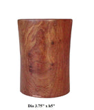 Chinese Handmade Yellow Rosewood Round Brush Holder cs1271S