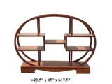 Chinese Rosewood Oval Small Table Top Curio Display Stand cs1275S