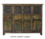 Chinese Vintage DongBei Kitchen Dining Room Curio Cabinet cs1297S