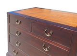 Chinese Brown Light Bamboo Top Dresser Drawer Cabinet cs1329S