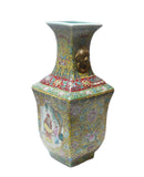 Chinese Yellow Base Canton Famille Porcelain Vase cs133S