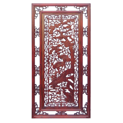 carved panel - birds and floral