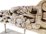 Chinese Vintage Wood Carved Floral Table Top Display Accent cs1378S