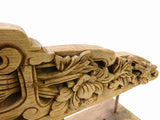 Chinese Vintage Wood Carved Floral Table Top Display Accent cs1386S