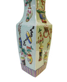 Asian square porcelain vase