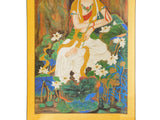 Handpainted Kwan Yin Bodhisattva Watercolor Scroll Painting cs1469S