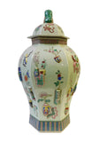 Asian hexagon porcelain vase