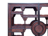 Chinese Pair Rosewood Display Curio Cabinet Room Divider cs1499S