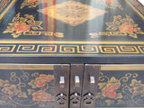 Chinese Color Flower Graphic Swing Drawer Coffee Table cs1505S