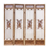 four pieces of Chinese antique partition tall panel
