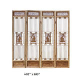 Chinese People Carving Window Pattern Wood Panel Floor Screen cs1523S