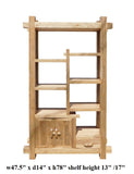Rustic Raw Wood Open Shelf Bookcase Display Cabinet cs1551S