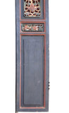 Chinese Gold Red Green Carving Wood Tall Panel cs1564S
