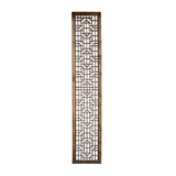 Chinese Rustic Wood Geometric Long Wood Panel cs1565S
