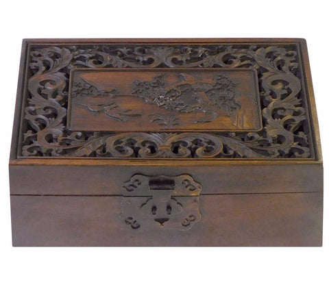 carved rosewood storage box