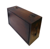 Chinese Huali Rosewood Open Carving Storage Box Chest cs1580S