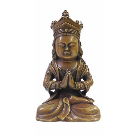 bronze Kwan Yin - Bodhisattva -  goddess of mercy - goddess of compassion