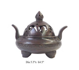 Chinese Rustic Metal Simple Round with Ears Incense Ding cs1610S