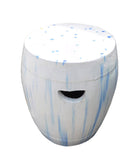 Chinese White Blue Round Clay Ceramic Garden Stool cs1636S