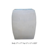 Chinese Off White Square Clay Ceramic Garden Stool cs1640S