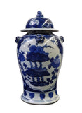 lotus flower blue and white general jar