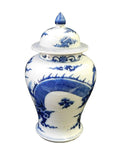 blue and white vase